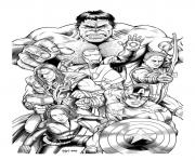 Printable adult avengers hulk coloring pages