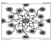 free mandala difficult adult to print 6 coloring pages