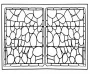 Printable adult stained glass chapelle prieure de bethleem nimes version 2 coloring pages