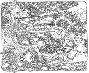 adult fantasy child elves coloring pages