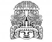 Printable adult totem inspiration inca mayan aztec 2 coloring pages