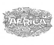 Printable adult africa abstract symbols coloring pages