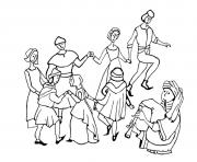 Printable adult middle age danse coloring pages