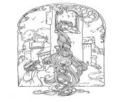 Printable adult rapunzel coloring pages