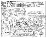 Printable adult comics fantastic for unreleased cover 1963 coloring pages