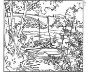 adult van gogh pont de clichy coloring pages