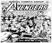 Printable adult avengers couverture coloring pages