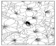 Printable adult cherry tree by mizu coloring pages