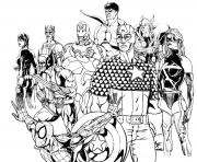 Printable adult avengers coloring pages