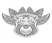 Printable adult african mask 6 coloring pages
