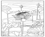 Printable adult lotus by mizu coloring pages