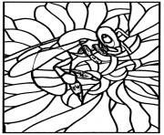 Printable adult stained glass bee workshop jb tosi 2010 coloring pages