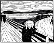 Printable adult munch the scream coloring pages