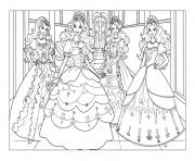 Printable adult barbie coloring pages