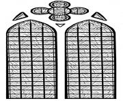 Printable adult stained glass chapelle chateau yverdon les bains france coloring pages