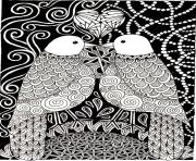 Printable adult love birds coloring pages