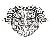 Printable adult mask inspiration inca mayan aztec 1 coloring pages