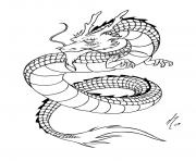 Printable adult simple chinese dragon coloring pages