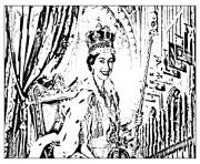 Printable adult elisabeth ii coronation 1953 coloring pages