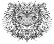 adult difficult lion head coloring pages