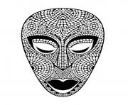 Printable adult african mask coloring pages