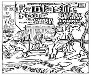 adult comics fantastic four 1969 coloring pages
