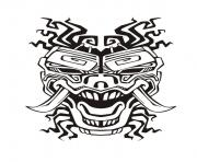 adult mask inspiration inca mayan aztec 2 coloring pages