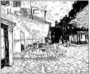 adult van gogh le cafe de nuit coloring pages