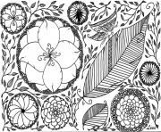 Printable adult leen margot spring coloring pages