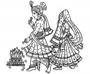 adult mariage indien coloring pages