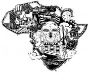 Printable adult africa difficult map coloring pages