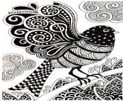 Printable adult dark bird coloring pages
