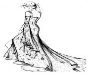 Printable adult robe dentelle chantilly coloring pages