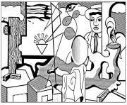 adult roy lichtenstein american icons coloring pages
