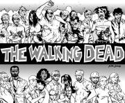 Printable adult the walking dead by kyleiam coloring pages