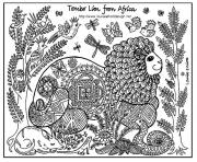 adult africa lion coloring pages