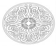 Printable mandala adult 7 coloring pages