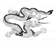 Printable adult dragon chinois coloring pages