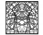Printable adult stained glass belgique exposition rene mels 1986 version square coloring pages