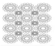 Printable adult circles flowers coloring pages