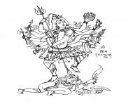 Printable adult shiva 8 bras coloring pages