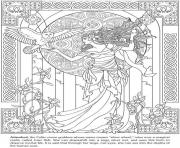 Printable adult arianrhod celtic goddess coloring pages