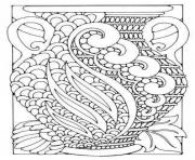 Printable adult art deco vase coloring pages