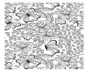 Printable adult butterflys coloring pages