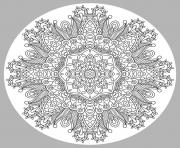 Printable adult mandala by karakotsya 1 coloring pages