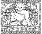 Printable adult tibetain bouddha coloring pages