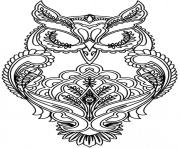 Printable adult difficult owl coloring pages