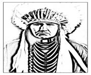 Printable adult native american indian coloring pages