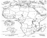 Printable adult africa map coloring pages