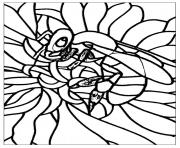 Printable adult bee coloring pages